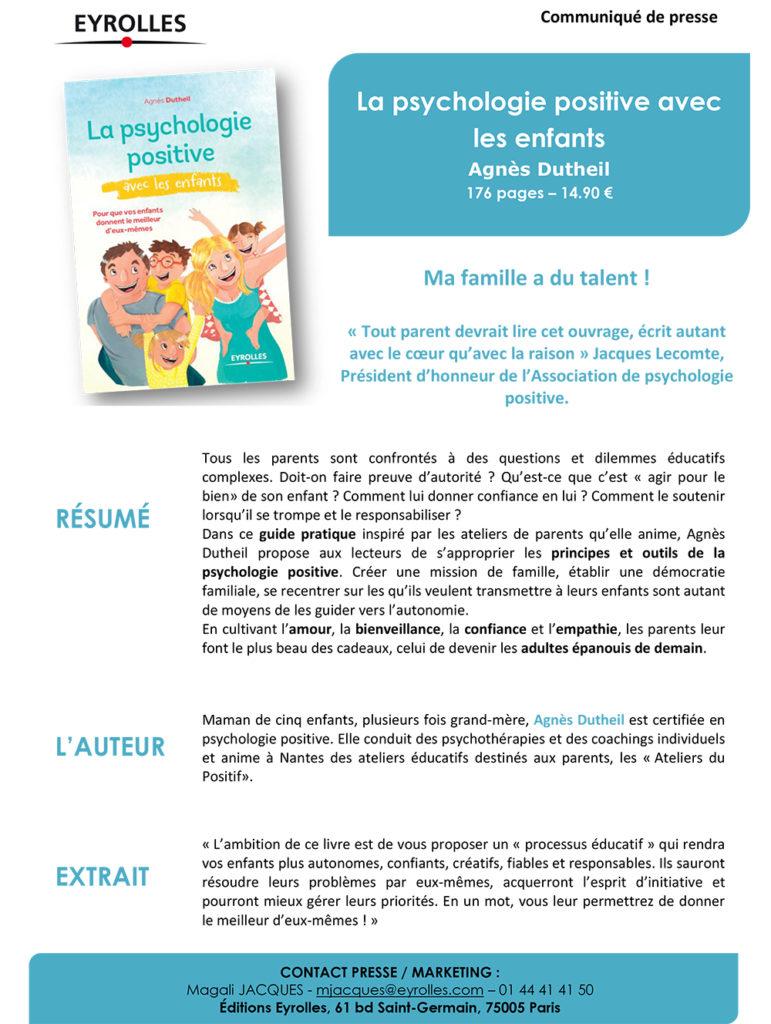 """""""La psychologie positive"""" - Agnès Dutheil"""